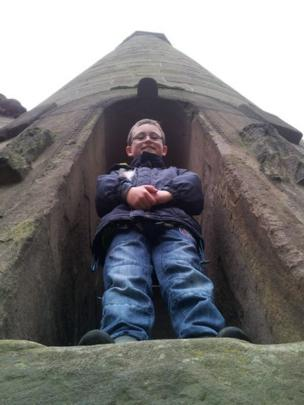 Alex at Brechin Round Tower