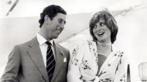 The Prince and Princess of Wales on honeymoon in August 1981