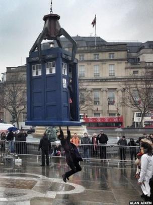 Doctor Who's Tardis in Trafalgar Square. Photo: Alan Aiken