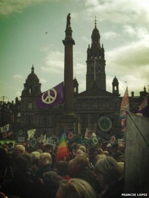 Anti-Trident protest in Glasgow. Photo: Francis Lopez