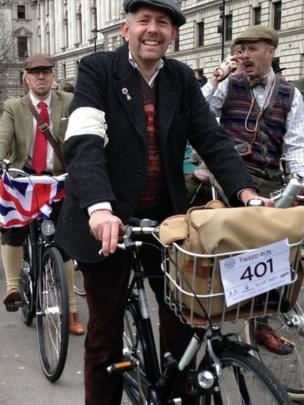 Tweed run cyclists. Photo: Alan Aiken