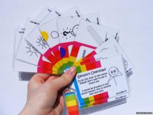 Keyring communication cards, by Hannah Ensor