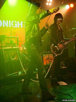 Bobby Gillespie at The Scala in London by Peter Stevens