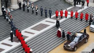 The Queen and the Duke of Edinburgh arrive at St Paul's