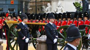 Baroness Thatcher funeral. Photo: James Ferguson
