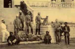 The Grand Duke Alexander of Russia and Companions after Cheetah Hunt, March 1891