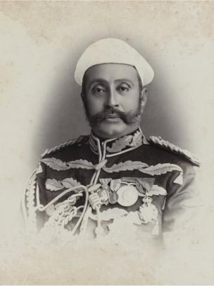 The Nawab Sir Asman Jah Bahadur, October 1890