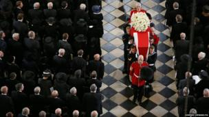 Baroness Thatcher's funeral is St Paul's