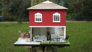 A luxury birdhouse.