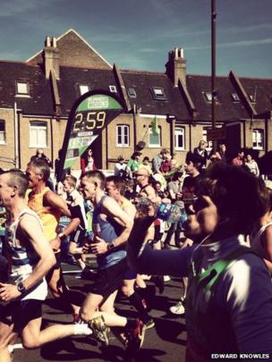 Runners in Greenwich. Photo: Edward Knowles