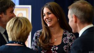 Duchess of Cambridge laughing