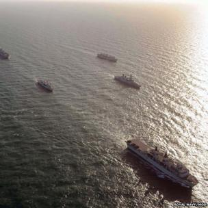 Warships on Exercise Joint Warrior