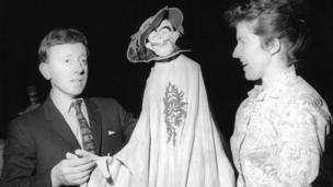 Eric Bramall and Jane Phillips with the puppet Prince of Seredip