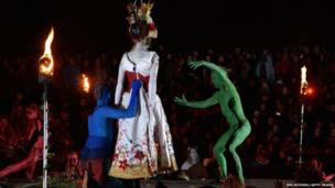 The Green Man and the May Queen are married
