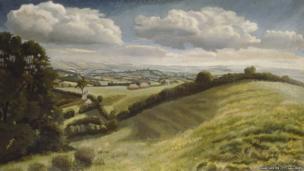 Blackmoor Vale by Gilbert Spencer (detail)