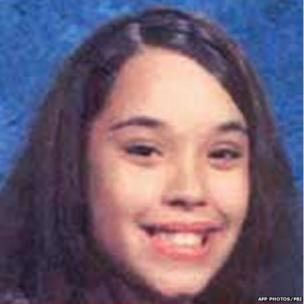 """Georgina """"Gina"""" DeJesus as a teenager in a photograph distributed by the FBI shortly after she went missing around a decade ago."""