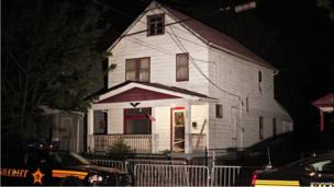 The house in Cleveland where Amanda Berry, Gina DeJesus and Michelle Knight were found, 7 May 2013