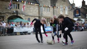 Stilton Village Festival cheese rolling competition