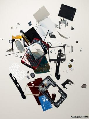 Disassembled phone