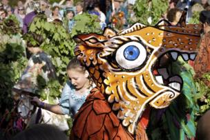 The Dragon, Hal-an Tow, Flora Day, Helston, Cornwall