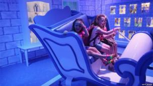 Children at the Barbie Dreamhouse Experience, Berlin, 16 May 2013
