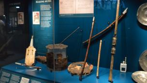 Musical instruments found on Mary Rose