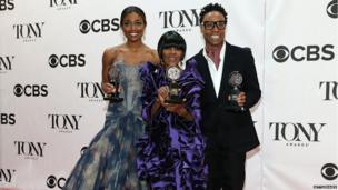 Patina Miller, Cicely Tyson and Billy Porter