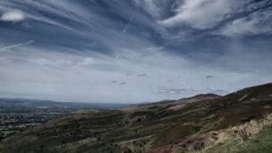 Clouds above Moel Famau, Denbighshire