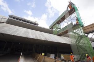 Construction work at Tancredo Neves International Airport, Belo Horizonte