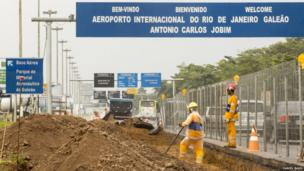 Roadworks near the Antonio Carlos Jobim International Airport, Rio de Janeiro