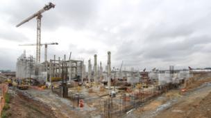 Sao Paulo airport construction site