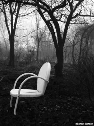 Cherry tree and chair