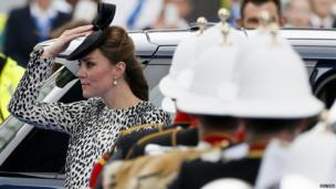 Duchess of Cambridge arriving