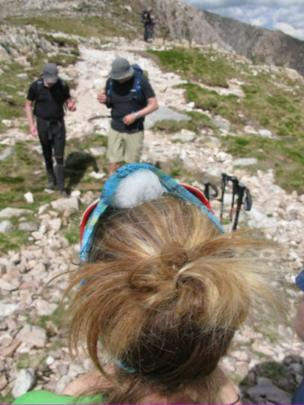 Walkers on Buachaille Etive Mor