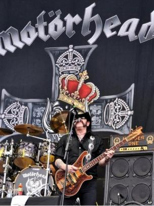 Lemmy of Motorhead performs during the Download festival on Saturday