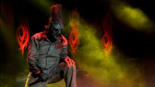 Corey Taylor of Slipknot performs during the Download festival on Friday