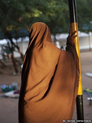 A woman awaiting to give birth at the Hagadera Hospital, in Dadaab, Kenya