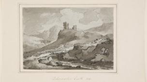 Dolwyddelan Castle by WG Jennings