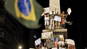 Demonstrators in Belo Horizonte on 20 June 2013