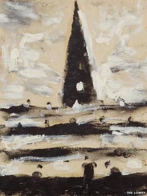 A Tower at Sea by LS Lowry