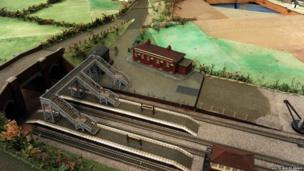 Magor model village railway bridge
