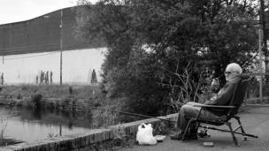 Angler at Port Dundas