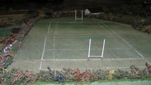 Magor model village rugby pitch