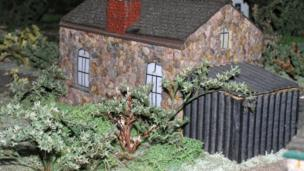 Magor model village home and shed