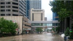 Flooding in central Calgary, 21 June