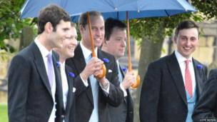 Prince William and other wedding guests
