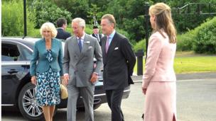 During the visit, Prince Charles and the Duchess of Cornwall were accompanied by Lord and Lady Caledon