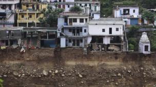 Damaged house in Uttarakhand