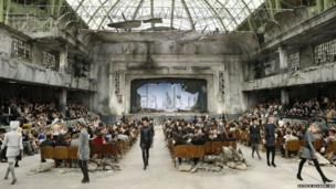 Models at the Grand Palais in Paris.
