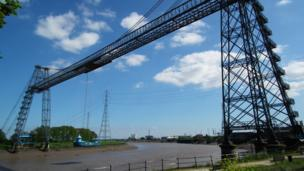 Newport's transporter bridge
